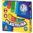 Plastelina szkolna ASTRA 6 kolorów