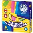 Plastelina dekoracyjna ASTRA fluorescencyjna 6 kolorów