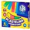 Plastelina szkolna ASTRA kwadratowa 6 kolorów
