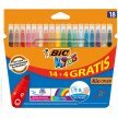 Flamastry BIC Kids Couleur 18 kolorów