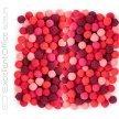 Pompony poliestrowe DALPRINT 1cm mix czerwony (120szt)