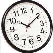 Zegar ścienny śr. 37,5 cm., czarny