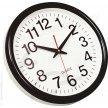Zegar ścienny śr. 28 cm., czarny