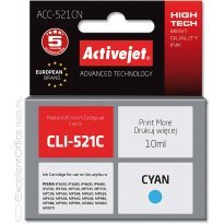 Active Jet Tusz CANON CLI-521C Cyan (CHIP) (IP3600/MX860/MP630) 10ml