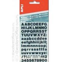 Litery samoprzylepne APLI 15mm czarne (486szt) AP4415