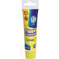 Farba plakatowa ASTRA żółta cytrynowa tubka 30ml.
