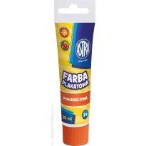 Farba plakatowa ASTRA pomarańczowa 30ml.