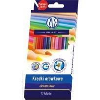 Kredki akwarelowe ASTRA 12 kolorów