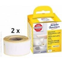 Etykiety AVERY do drukarek DYMO adresowe 28mm x 89mm, białe, trwałe (2x130szt)