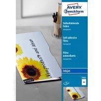 Folia samoprzylepna ZF Avery A4 przeźr. druk.atramentowa 0,17mic (50ark)