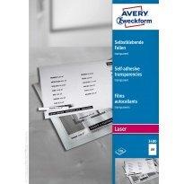 Folia samoprzylepna ZF Avery A4 przeźr. druk.laser i xero 0,14mic (100ark)
