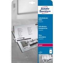 Folia samoprzylepna ZF Avery A4 przeźr. druk.laser i xero 0,14mic (25ark)