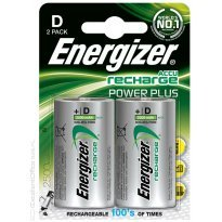 Bateria akumulator ENERGIZER Power Plus, D, HR20, 1,2V, 2500mAh, 2szt.