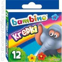 Kredki BAMBINO w kartonowym opakowaniu 12 kolorów