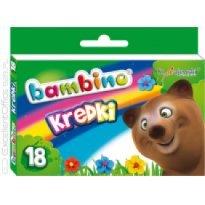 Kredki BAMBINO w kartonowym opakowaniu 18 kolorów