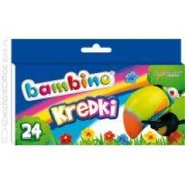 Kredki BAMBINO w kartonowym opakowaniu 24 kolory