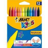 Kredki świecowe BIC Kids Plastidecor 12 kolorów