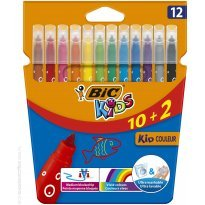 Flamastry BIC Kids Couleur 12 kolorów