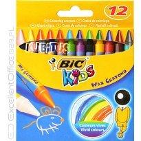 Kredki świecowe BIC Kids Wax Crayons 12 kolorów