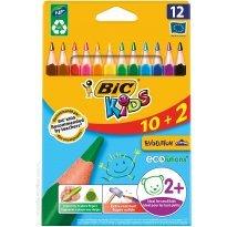Kredki ołówkowe BIC Kids Evolution Triangle (trójkątne) 10+2kol.
