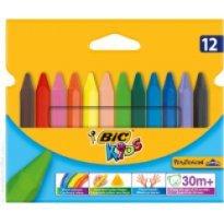 Kredki świecowe BIC Kids Plastidecor Triangle (trójkątne) 12kol. 829773