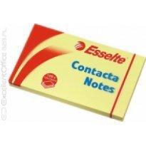 Bloczek samop. ESSELTE CONTACTA 125*75 żółty (100kart)