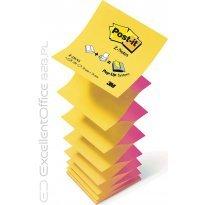 Bloczek samop. 3M 76*76 żółto/różowy jakskr Z-notes (100kart.) R330-NA