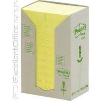 Bloczki samop. 3M ECO 38*51 żółte (24-bl) 653-1T