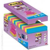 Zestaw bloczków samoprzylepnych Post-it® Super Sticky Z-Notes, mix kolorów, 16x90 kart. + 2 bloczki GRATIS R-330-SS-VP16