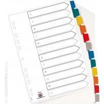 Przekładki kartonowe ELBA MYLAR A4 12 kolorów