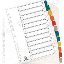 Przekładki kartonowe ELBA MYLAR A4 Maxi 12 kolorów