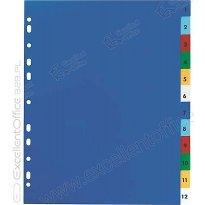 Przekładki PP ELBA A4 MAXI kolorowe 1-31