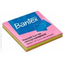 Bloczek samoprzylepny BANTEX 75x75mm kolor neon mix (100k)