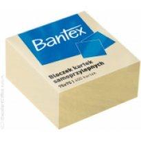 Kostka samoprzylepny BANTEX 75x75mm żółty (400k)