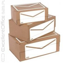 Pudło pocztowe ELBA Shipping A4+ 340x230x140mm, brązowe 400079261