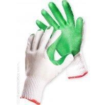 Rękawice ekonomiczne FRIDRICH&FRIDRICH Brick (HS-04-007), montażowe, rozm.10, biało-zielone