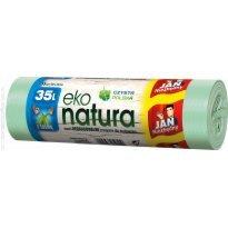 Worki na śmieci 35l JAN NIEZBĘDNY Eko-natura  (15szt) z taśmą