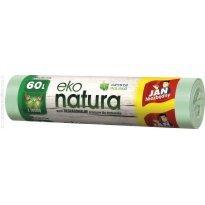 Worki na śmieci 60l JAN NIEZBĘDNY Eko-natura  (10szt) z taśmą