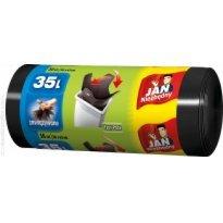 Worki na śmieci 35l JAN NIEZBĘDNY Easy-Pack czarne (30szt) wiązane