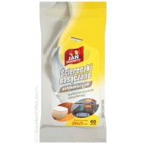 Ścierki nasączone JAN NIEZBĘDNY antybakteryjne (40szt)