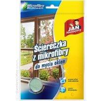 Ścierka z mikrofibry JAN NIEZBĘDNY do mycia okien 40x40cm