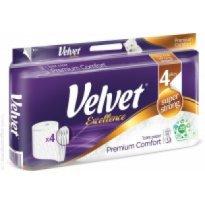 Papier toaletowy VELVET EXCELLENCE Biały 3W 200listków (8 rolek)
