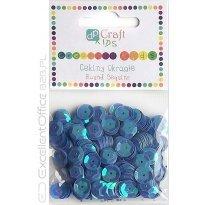 Cekiny okrągłe DALPRINT 10g niebieskie