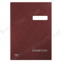 Teczka do podpisu DONAU 20 kartek bordowa
