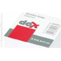 Kostka papierowa DOX 85*85/40mm biała klejona