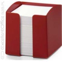 Pojemnik z karteczkami  DURABLE TREND 90x90/800kart czerwony