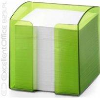 Pojemnik z karteczkami  DURABLE TREND 90x90/800kart przeźroczysty-zielony