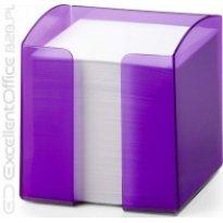 Pojemnik z karteczkami  DURABLE TREND 90x90/800kart przeźroczysty-fioletowy