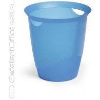 Kosz na śmieci DURABLE TREND 16l przeźroczysty-niebieski