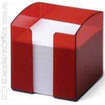 Pojemnik z karteczkami  DURABLE TREND 90x90/800kart przeźroczysty-czerwony